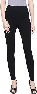 ShopOlica Women's Fleece Fur Warm Winter Ankle Length Tights Leggings with Elastic Waist Band