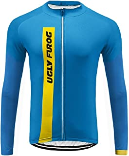 Uglyfrog 2018 Summer Style Men's Long Sleeve Cycling Jersey, Bike Biking Shirt- Breathable and Quick Dry SPIFY02