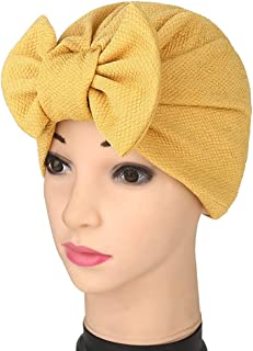 YiYi Operation Womens Stretchy Cotton Bowknot Women Turban Hat Chemo Beanies Hijab Headwear Cap Head Cover