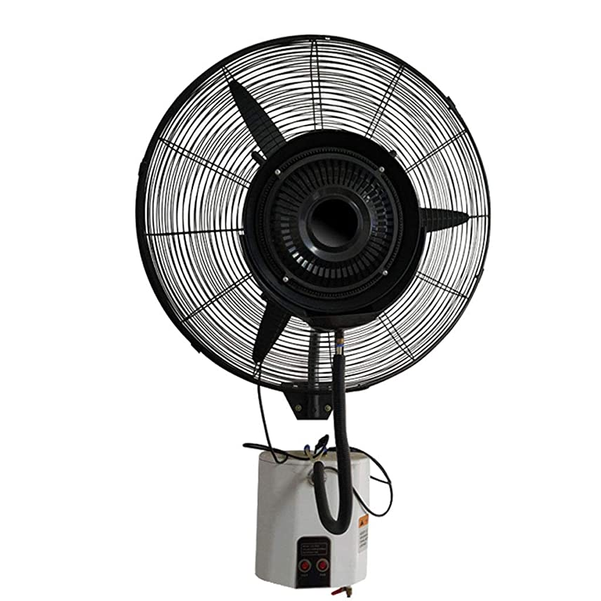 貫入コールドメイト冷却扇風 ウォールファン、ミスト冷却ファン振動静かなタイミング/工業用プラス水加湿ファン、3スピード/ 15L / 260W、ホワイト 産業ファン