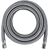 Certified Appliance Accessories Ice Maker Water Line, 10 Feet, PVC Core with Premium Braided Stainless Steel