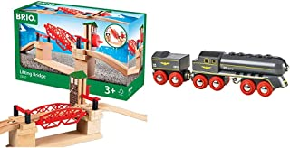 Best BRIO 33757 Lifting Bridge | Toy Train Accessory with Wooden Track for Kids Age 3 and Up & World - 33697 Speedy Bullet Train | 2 Piece Train Toy for Kids Ages 3 and Up,Red Review