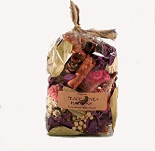 Peace, Love & Harmony Potpourri is a Mixture of Purple flowers, Pods, Berries & Cones mixed and Scented my Fragrance Blend of Sandalwood, Patchouli, Rose, Spice & Citrus. 3cup size bag