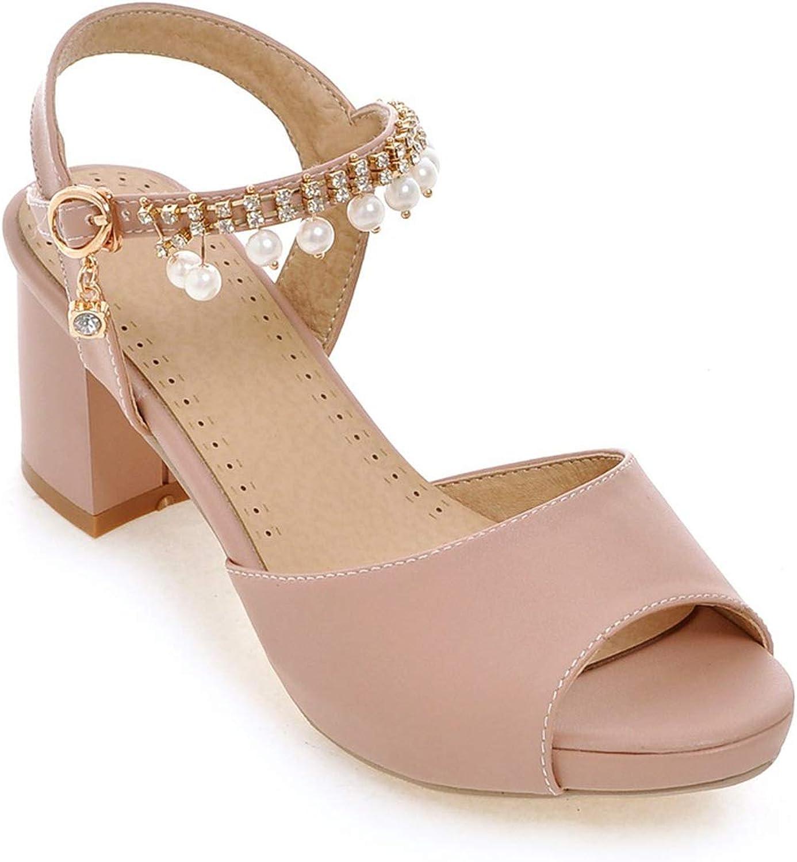 Mo Duo Woman Fashion Square Heels Sandals Women Open Toe Fashion Comfort Sandals Summer shoes