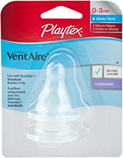 Playtex 2 Pack VentAire Silicone Slow Flow Nipple (Discontinued by Manufacturer)