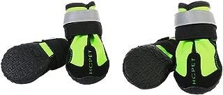 Blesiya 4-Pack Dog Winter Boots Dog Shoes Rain Shoes Snowproof for Large Husky Samoyed