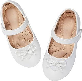 1e68a05d8 ADAMUMU Girls' Dress Shoes Ballet Mary Jane Flat Glitter Shoes for Toddler  Little Kids Princess