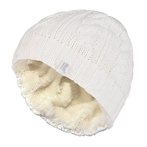 dae7d8aa0e Heat Holders - Women s Thermal Fleece Lined Cable Knit Winter Hat 3.4 tog -  One Size