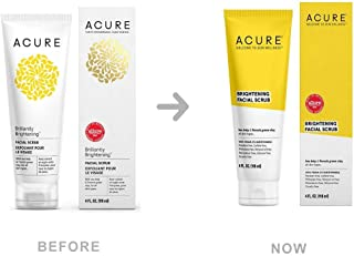 ACURE Brightening Facial Scrub, 4 Ounce by Acure, Packaging May Vary