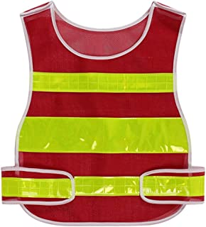 Safety vest Fluorescent Clothing New Upgrade Safety Vest Work Construction Building Night Running Riding Reflective Vest R...