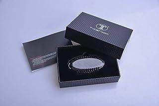 جراب كي ام دي ريال من ألياف الكربون لسلاسل المفاتيح الذكية إنفينيتي Q50 Q70 Q60 G37 G35 QX FX (أسود)