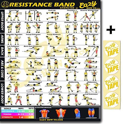 tonalit/é Eazy How to Kettlebell exercice entra/înement Banni/ère Poster Grand 51/x 74/cm train Endurance construire de Solidit/é et de Muscle Home Gym Chart