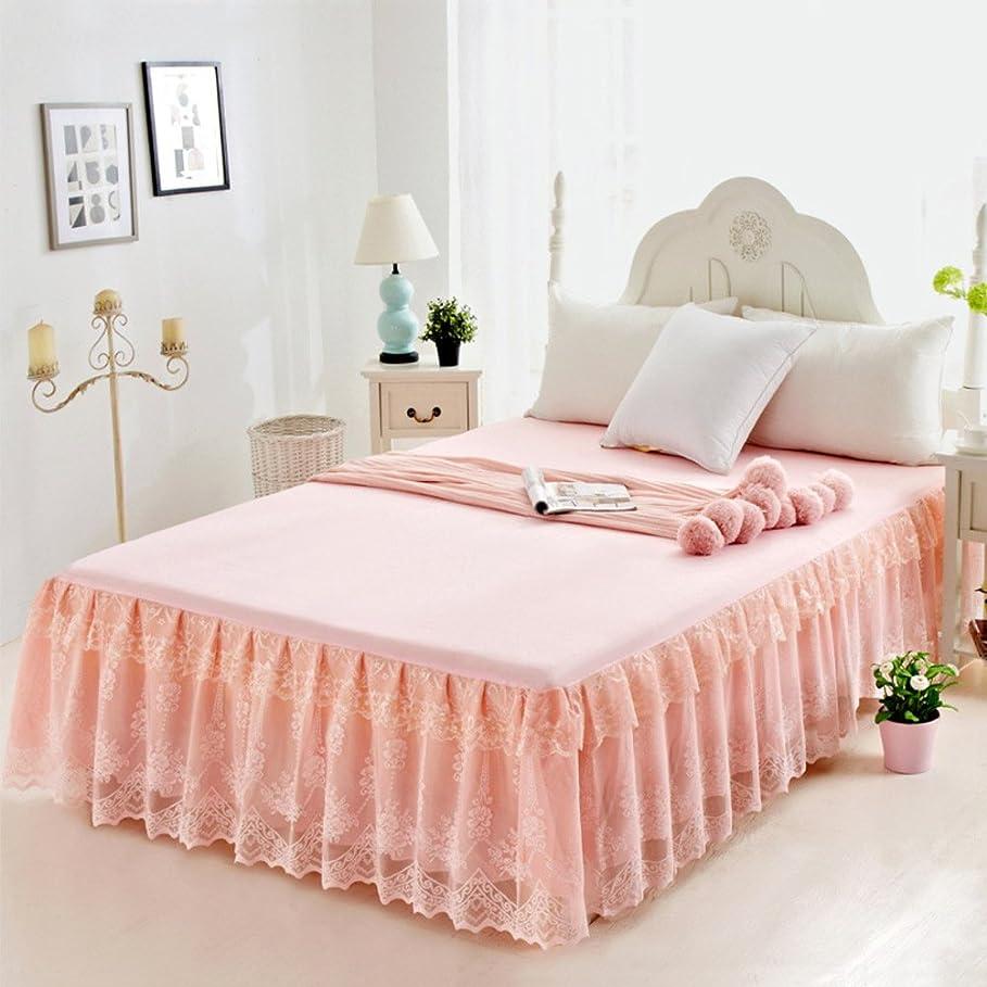 険しい海峡ひも論争ベッドスカート ベッドスプレッド シート,単色 レース 装飾 ベッド セミダブル ダブル ベッド] 17.7 インチ サギング-C 180*220cm