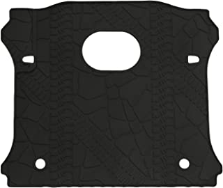 WINUNITE Black Rear Trunk Cargo Floor Mat for 2015-2018 Wrangler Rubicon JK JKU 4 Door Cargo Tray Liner All Weather Protector Cover with Subwoofer Mat Cutout