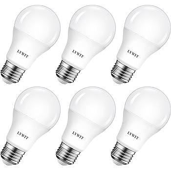LVWIT Bombillas LED A60, Casquillo E27, 8.5W equivalente a 60W, 2700K Luz Blanca Cálidoa, 806 lm, Bajo consumo, No regulable - Pack de 6 Unidades.: Amazon.es: Bricolaje y herramientas