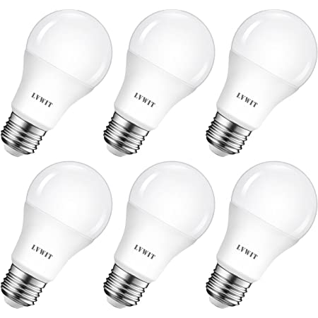 LVWIT Ampoule LED E27 8W, Equivalent à incandescence 60W, 6500K Blanc Froid, 806Lm, Lot de 6, Non-Dimmable