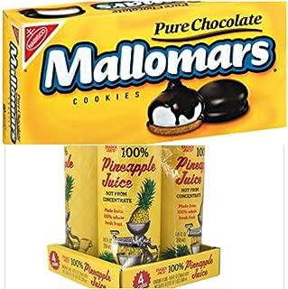 Nabisco Mallomars & Trader Joe's 100% Pinapple Juice