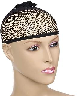 شعر مستعار من الألياف الصناعية للنساء، شعر مستعار مقاوم للحرارة العالية 71 سم، أسود مع قاعدة باروكة