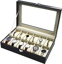 TECHVIDA Relojes Caja de Reloj con 12 Compartimentos para