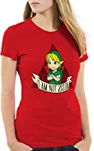 style3 I Am Not Zelda Camiseta para Mujer T-Shirt Link Hyrule Gamer