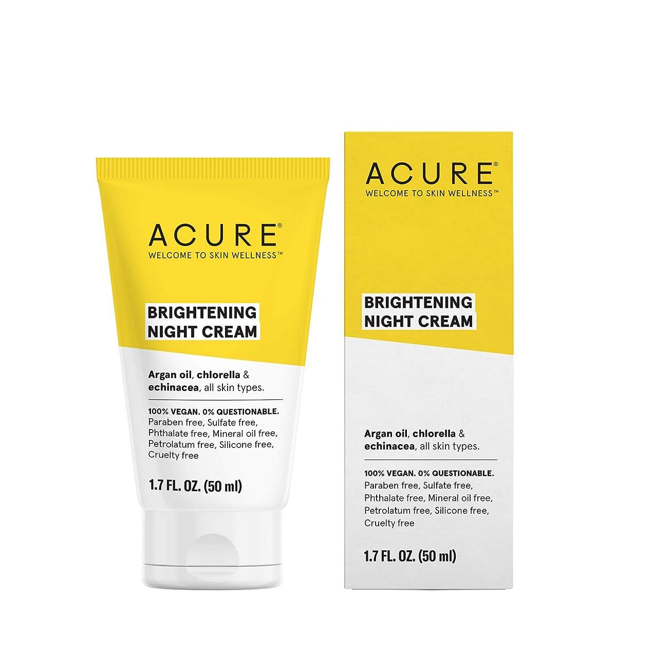授業料例外ボクシングAcure Organics, Night Cream, Argan Stem Cell, 1.75 fl oz by Acure Organics