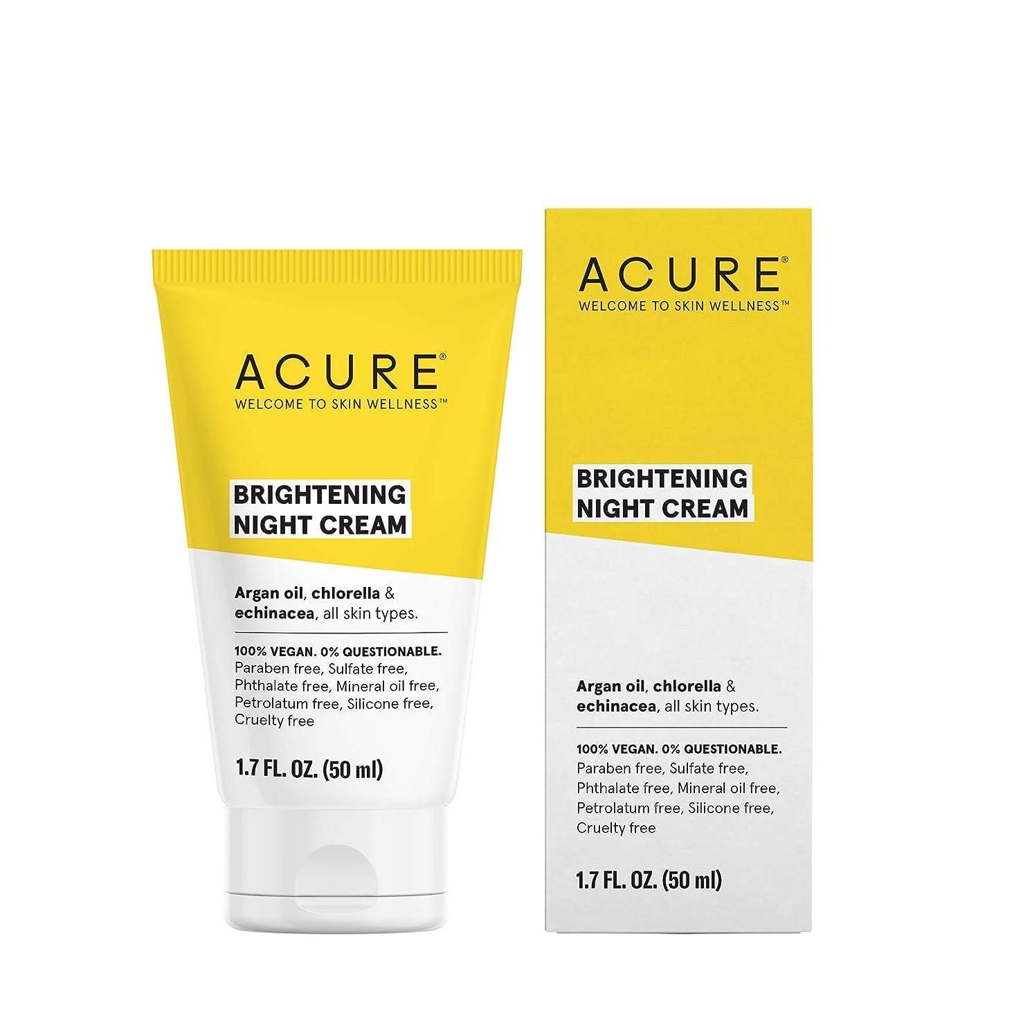 死傷者まっすぐギャラリーAcure Organics, Night Cream, Argan Stem Cell, 1.75 fl oz by Acure Organics