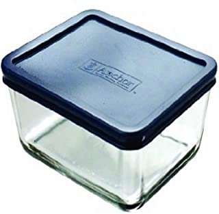 Anchor Hocking 6-Cup Rectangular Food Storage Containers with Blue Plastic Lids, Set of 4