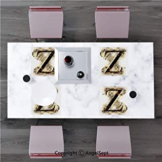 Heat-Resistant Placemats,Stain Resistant Anti-Skid Washable Table Mats,Letter Z,Alphabet Character Capital Z in Burning Medieval Gothic Surrounded by Fire Decorative,Tan Black Or