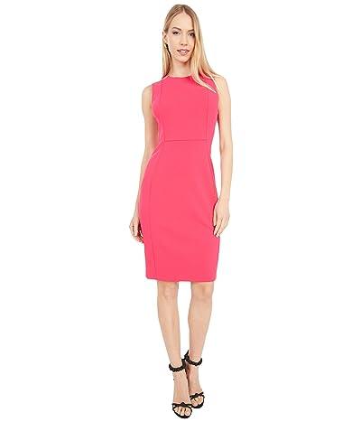 Calvin Klein Solid Sheath Dress (Lipstick) Women