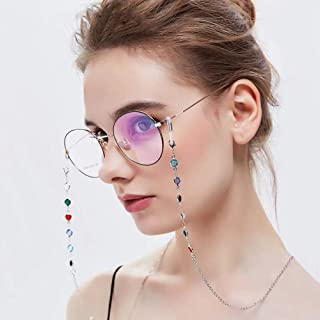 Fashion Chic Womens Gold Silver Eyeglass Chains Sunglasses Reading Glasses Chain Eyewears Cord Holder Neck Strap Rope,Silver