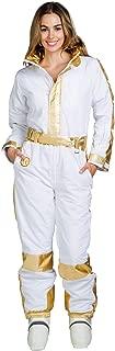 Women's Gold Foil Ski Suit - Classic Retro Ski Suit Female