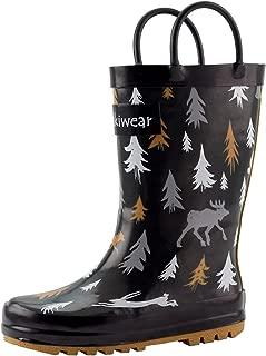 OAKI Toddler Rain Boots - Kids Rain Boots for Girls & Boys - Waterproof Rubber Boots w/Easy-On Handles