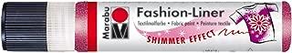 Marabu 18049009505 Fashion Liner 25ml-Shimmer Raspberry