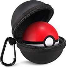 Carrying Case for Nintendo Switch Poke Ball Plus Controller Accessory Pouch Bag for Pokémon Lets Go Pikachu Eevee Game for Nintendo Switch (Black)
