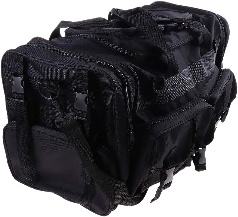 Kesoto Heavy Duty Fishing Tackle Storage Bags Messenger Shoulder Backpack Travel Duffel Bag Camera Case for Hiking