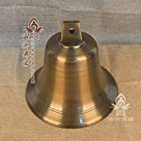 El budismo BAGEHAN Campana de bronce bronce cobre Cobre de campana de viento Feng Shui Campana Campana de bronce Templo escuela campana de bronce Bronce Antiguo Bell,8 pulgadas