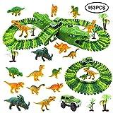 Diealles Shine Pista de Dinosaurios con Dinosaurios Juguetes, 153 Pcs...