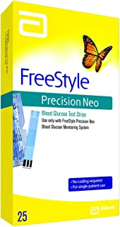 Freestyle Precision Neo Blood Glucose Test Strips, 25 Strips