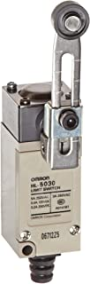 Omron HL-5030 General Purpose Miniature Limit Switch, Remote Control Wire, Adjustable Roller Lever, Silver Riveted Contact