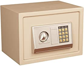 Steel Safe Anti-Theft Child Safe 20cm High Small All-Steel Mini Home Electronic Password Safe for Storing Valuables (Color...