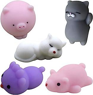 5PCS Pincez Sensorielle Adorable Animal Jouet Pousser Pop It Figit Jouet Kit, wuayi Squeeze Sensory Fidget Toy, Anti Stres...