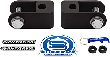 Supreme Suspensions - Front Shock Extenders for 2011-2019 Chevrolet Silverado 2500HD 3500HD [8-Lug] High-Strength Steel Shock Extension PRO Kit 2WD 4WD