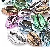 conchiglie branelli a spirale a spirale naturale aperto metallico tagliato liscio taglio conchiglie ovale conchiglie per gioielli fai da te artigianale ( color : multi-colored , size : 100pc )