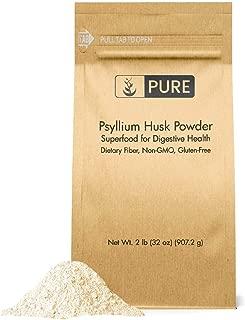 Psyllium Husk Powder (2 lb.) by Pure Organic Ingredients, Fiber Powder Supplement, Additive for Gluten-Free Baking