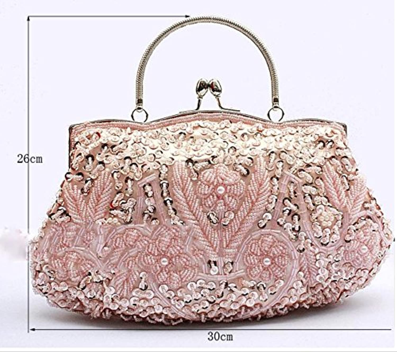 W&P New beaded handbag beaded sequin hand-optional evening bag , champagne