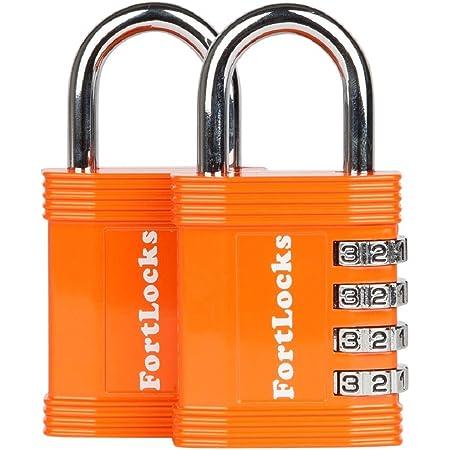 New FortLocks Combination Lock 4 Digit Padlock for School /& Gym Locker,
