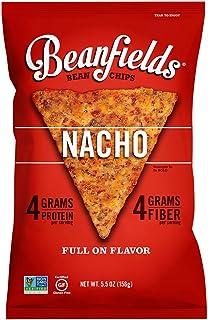 Beanfields Bean Chips, High Protein and Fiber, Gluten Free, Vegan Snack, Nacho, 5.5 oz, (Pack of 1)