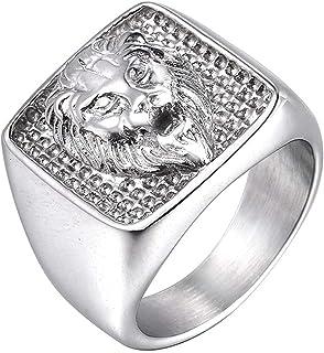 Wicemoon Bague t/ête de Lion pour Homme Vente /à lunit/é Bague pour Homme personnalit/é /éblouissante Or 7