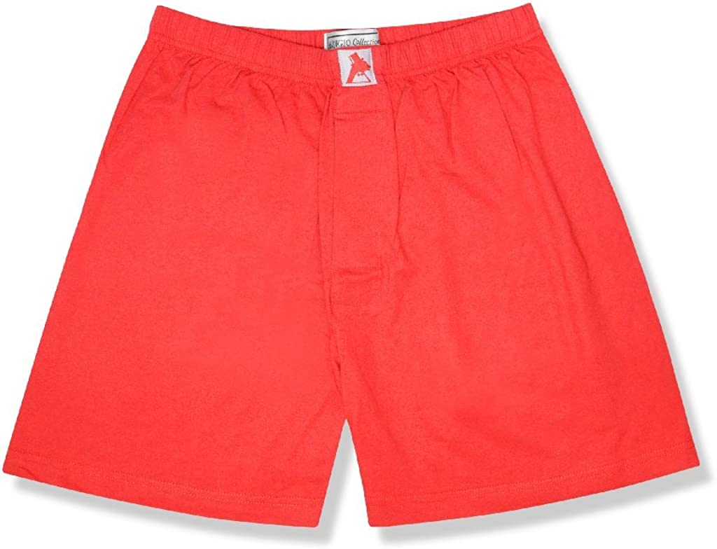 Biagio Mens Solid Free Shipping New RED Color Knit BOXER Max 47% OFF 100% Shorts Cotton