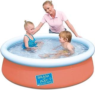 Bestway 57241 – Splash and Play Pool, de montaje rápido (Quick Up), color naranja